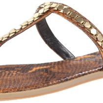 Nine West Kissme Dress Sandal in Yellow and Multi Color