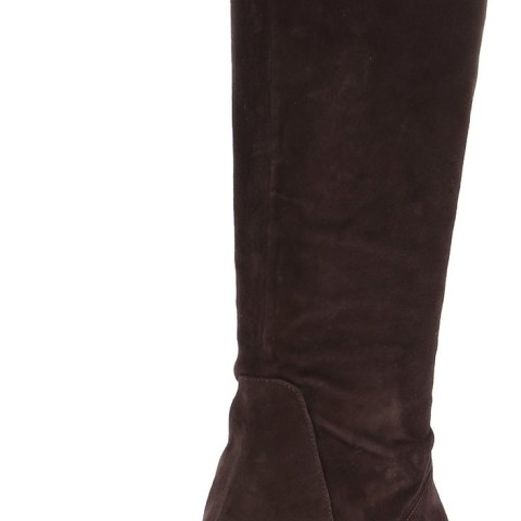Nine West Mayretta Riding Boot in Dark Brown Color