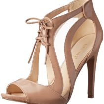 Nine West Momentous Dress Sandal in Taupe and Taupe Color