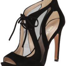 Nine West Momentous Suede Dress Sandal in Black Color