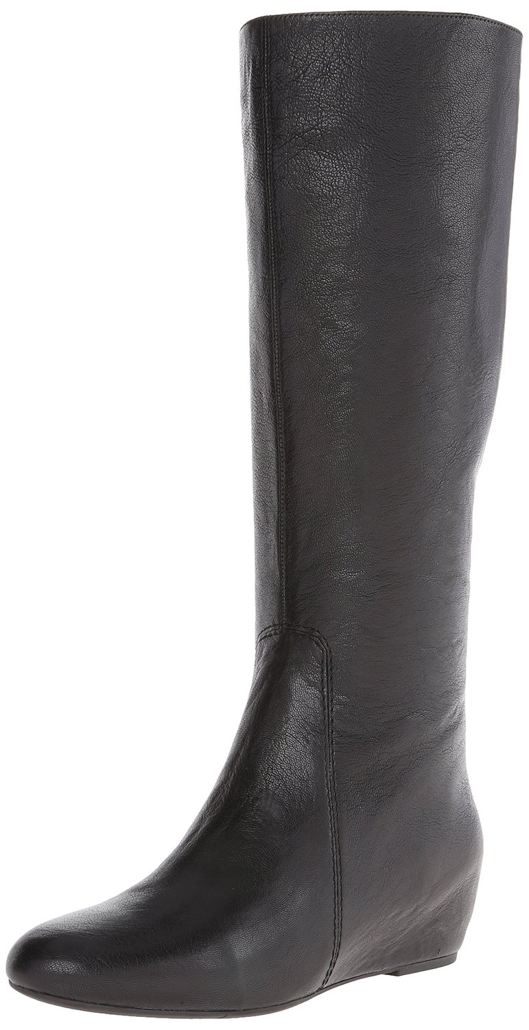 Nine West Myrtle Leather Knee High Riding Boot