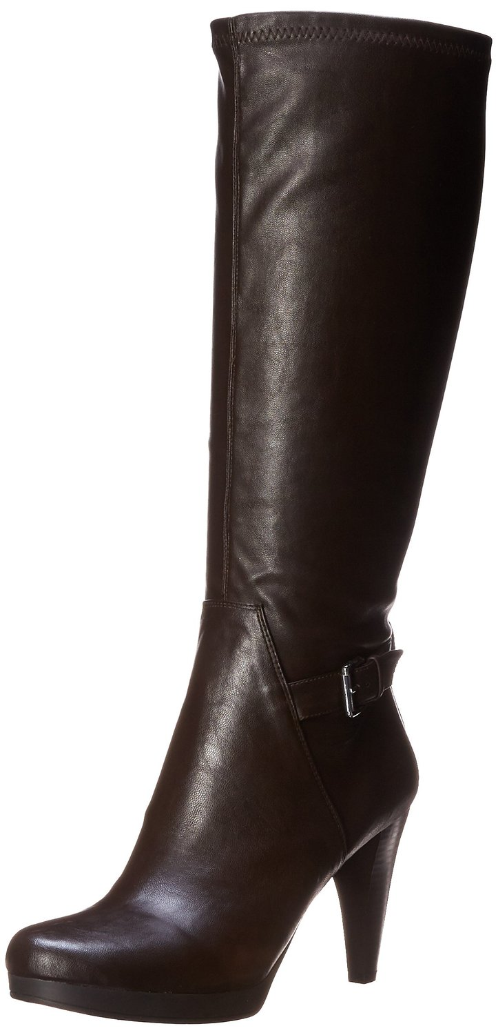 nine west navita faux leather knee high boot
