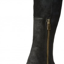 Nine West Olette Suede Riding Boot in Black Color