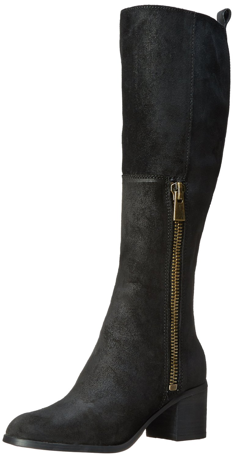 nine west olette knee high suede boot