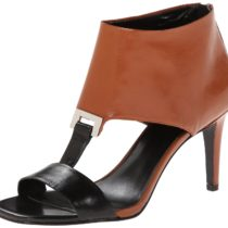 Nine West Pricilla Dress Sandal in Black and Natural Black Color