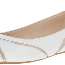 Nine West Saxton Ballet Flat in White Color
