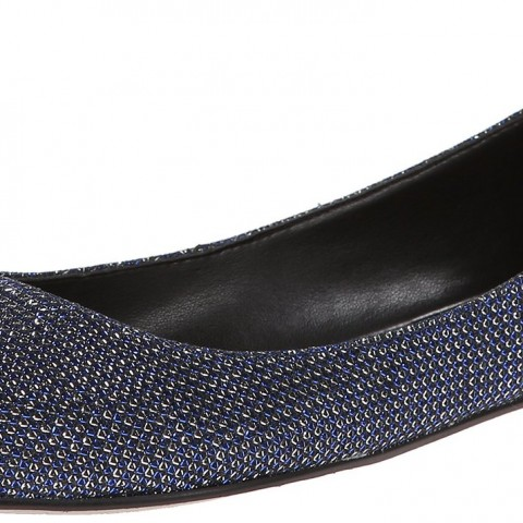 Nine West Speakup Fabric Ballet Flat in Blue Multi Color