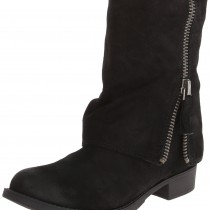 Nine West Thomasina Boot in Dark Black Color