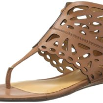 Nine West Whispers Gladiator Sandal in Dark Natural Color