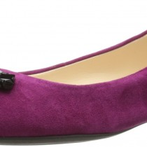 Nine West Zona Ballet Flat in Dark Pink Color
