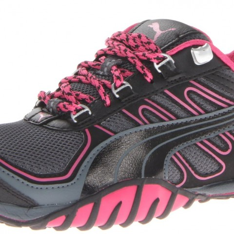PUMA Fells Trail Running Shoe in TurbulenceBlackBeetroot Purple Color