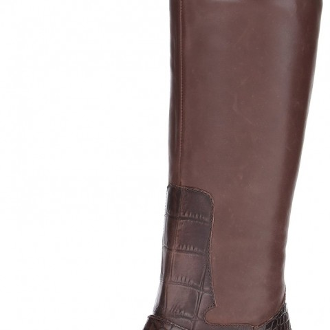 Sam Edelman Juliana Riding Boot in Dark Brown Color