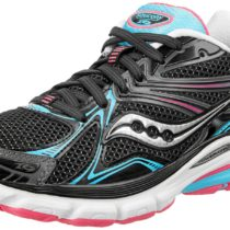 Saucony Hurricane 16 Running Shoe in BlackBluePink Color