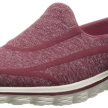 Skechers Go Walk 2 Super Sock Walking Shoe in Burgundy Color