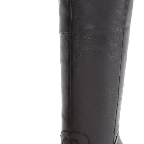 Steve Madden Carrter Riding Boot in Black Leather
