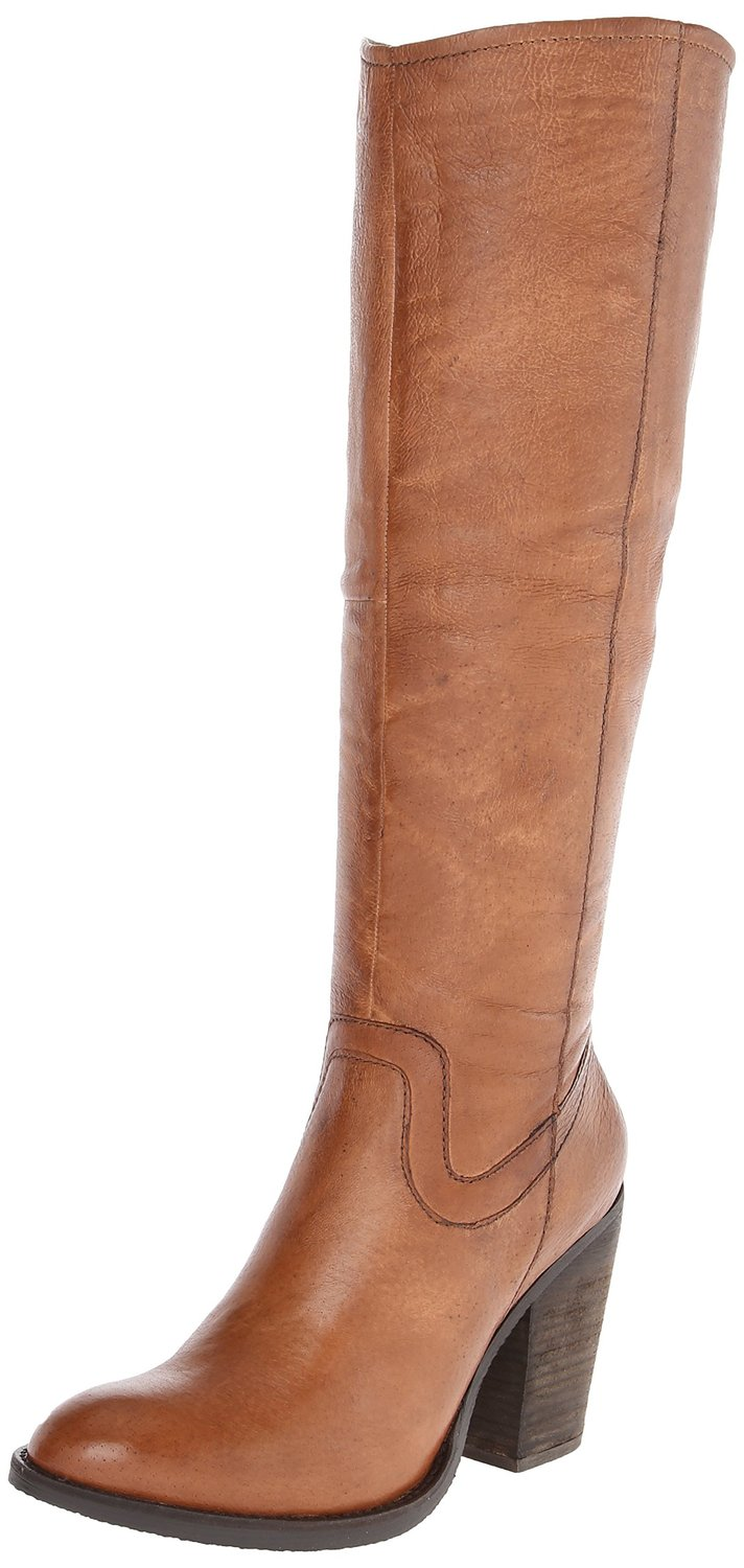 steve madden carrter leather knee high heel boot