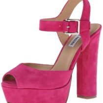 Steve Madden Jillyy Dress Sandal in Fuchsia Suede Color