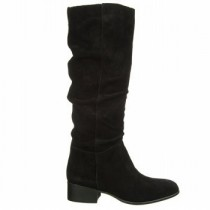 Steve Madden Pondrosa Slouch Boot in Black Suede Color