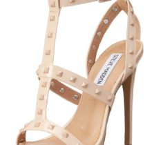 Steve Madden Stay Dress Sandal in Blush Patent Color