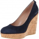 Stuart Weitzman Corkswoon Leather Wedge Pump