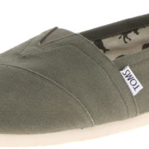 TOMS Canvas Slip-On in Olive Color