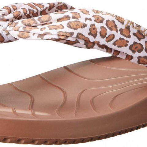 crocs OM486 Waveseeker Flip Flop in Leopard Color