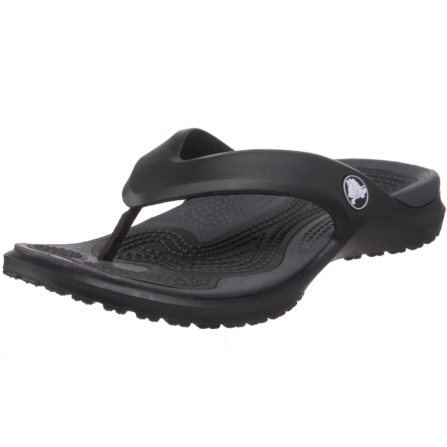32563db8b crocs Unisex MODI Flip-Flop in BlackGraphite Color