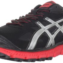 ASICS GEL-Scram Trail Running Shoe in BlackLightning Poppy