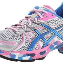 ASICS GEL-Sendai Running Shoe in WhiteBlueSilver Color