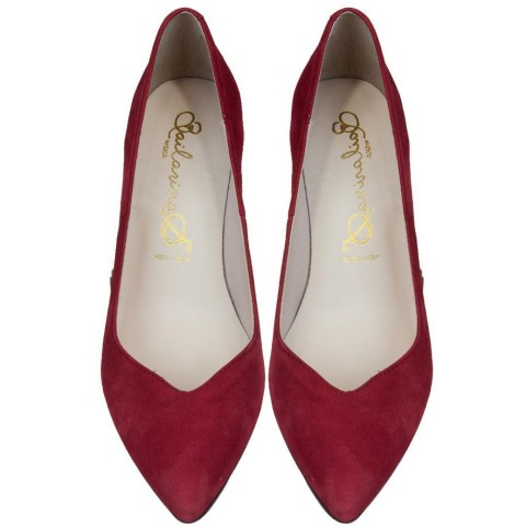Bailarinas SCILLA ROS Red Suede Classic Pump in Red Suede Color