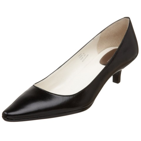 Calvin Klein Diema Pump in Black Kidskin