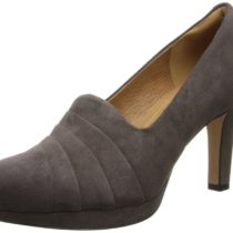 Clarks Delsie Joy Dress Pump in Dark Taupe Color