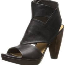 Coclico Fabiana Platform Sandal in Black Leather Color
