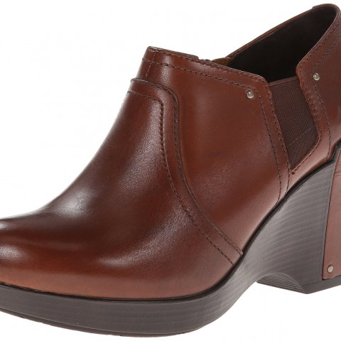 Dansko Florence Wedge Pump in Brandy Antique Full Grain Color
