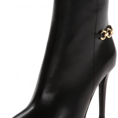Diane von Furstenberg Beckett Boot in  Black Nappa