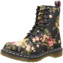 Dr. Martens 1460 Re-Invented Victorian Print Lace Up Boot in Black Victorian Flowers Color