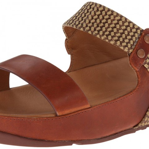 FitFlop Amsterdam Dress Sandal in Dark Tan Color