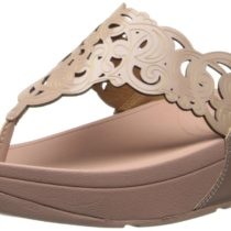 FitFlop Flora Patent Flip Flop in Nude Color