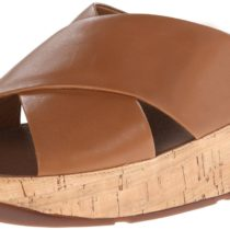 FitFlop KYS Leather Dress Sandal in Tan Color