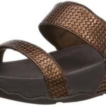 FitFlop Lulu Slide Weave Dress Sandal in Bronze Color
