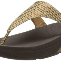 FitFlop Skinny Weave Flip Flop in Bronze Ore Color