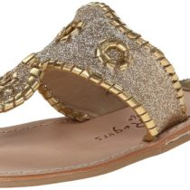 Jack Rogers Sparkle Dress Sandal in Gold Color