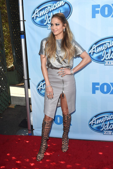 Jennifer Lopez in Sophia Webster Gladiator Heels American Idol 1