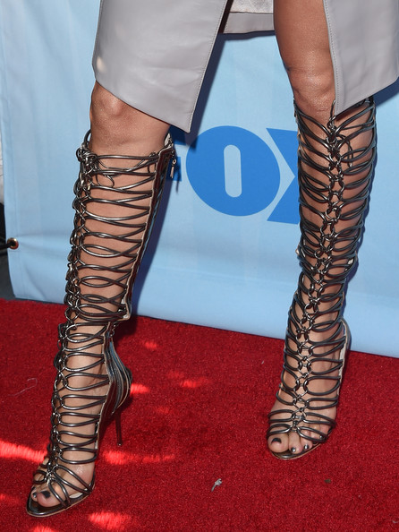 Jennifer Lopez in Sophia Webster Gladiator Heels American Idol 2