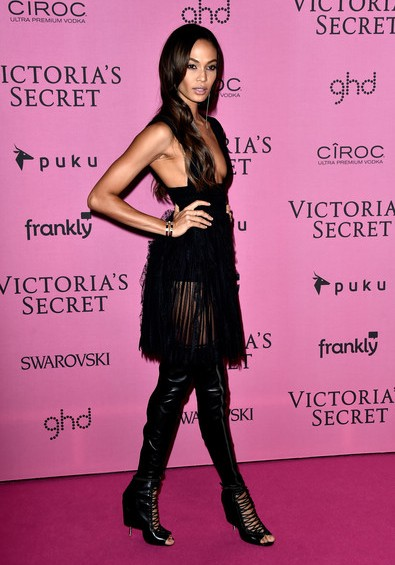 Joan Smalls Over the Knee Boots Victoria's Secret Fashion Show