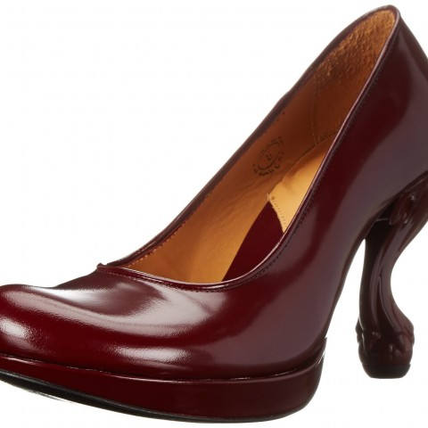 John Fluevog Escarpin Dress Pump in Burgundy Color