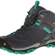 KEEN Marshall Mid WP Hiking Boot in  Magnet Emerald
