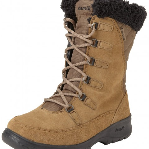 Kamik Boston Snow Boot in Taupe Color