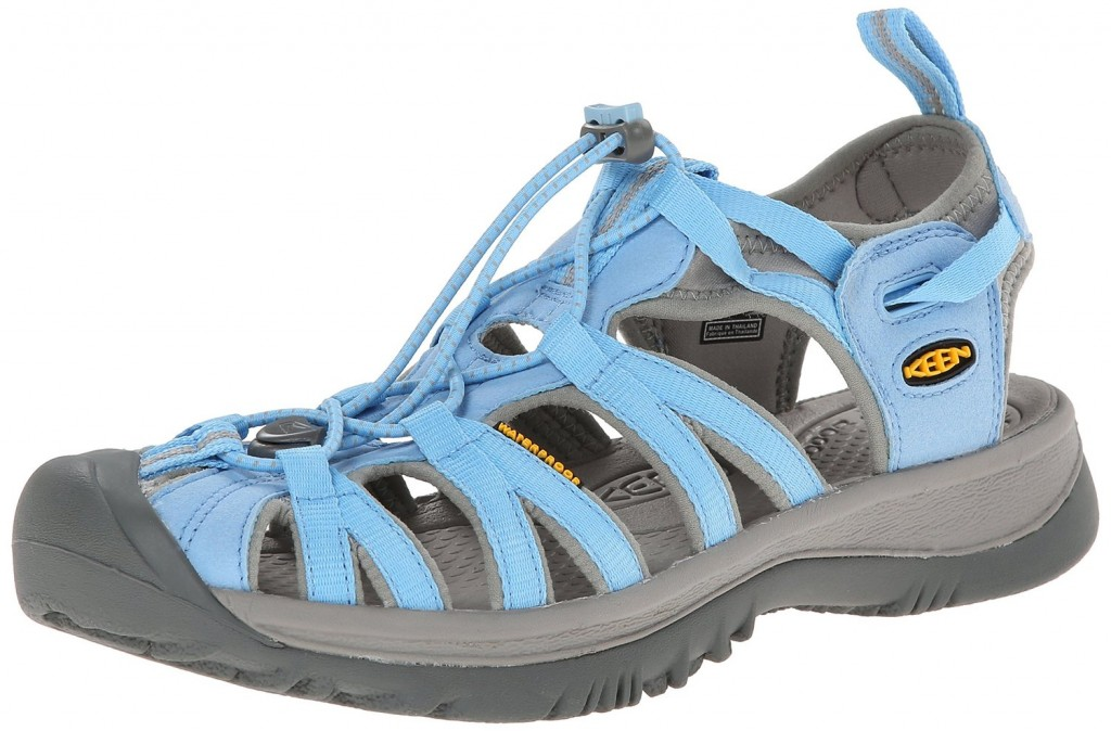 Keen Whisper Sandal Alaskan Blue Neutral Gray Top Heels