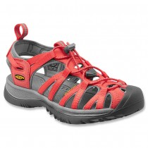 Keen Whisper Sandal in Hot CoralNeutral Gray Color